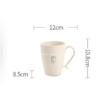 Tazas de café de plástico irrompibles de fibra de bambú tazas