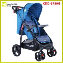 Schnelles Falten und verstellbare Griffhöhe Deluxe Baby Kinderwagen NEU Design EN und ASTM Approved