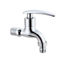 Yuhuan Double Outlet Shape Washing Machine Tap Sink Polished Zinc Alloy Bibcock BRASS Basin Wall Mounted Ceramic