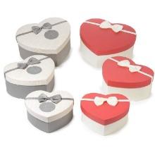 Boîte-cadeau rigide en forme de coeur Saint-Valentin