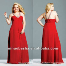 Charmeuse Beaded Chiffon Overlay Evening Dress 2012