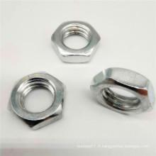 Écrou à embase hexagonale en titane avec serrure métallique A2