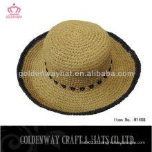 Nouveau chapeau de paille en gros 100% chapeaux en papier chaude chaude d'été