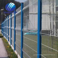 geschweißter Drahtzaunplattenexport nach Japan-Zaun PVC beschichtete curvy geschweißten Zaun