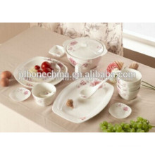 Janpanese Korean style home family bone china ceramic modern porcelain plate wholesale