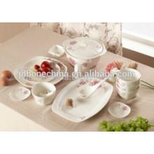 Janpanese estilo coreano casa família osso china cerâmica moderna porcelana placa grossista