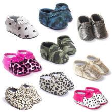 Новорожденных Мягкой Подошвой Противоскользящие Малыша Мокасины Детская Обувь Для Девочек