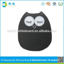 menu chalk board owl shape