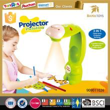 Crianças projetor brinquedo de pintura projetor