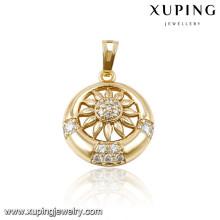 31951 xuping fashion diamond chakra flower of life wholesale chakra pendants