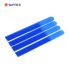 Printed hook and loop cable ties bundling electronic wires