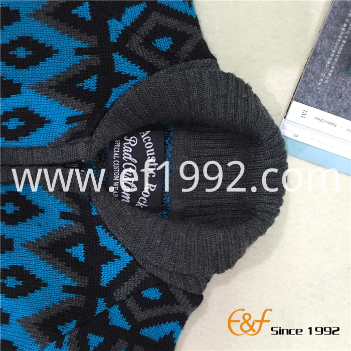 shawl collar sweater for boy