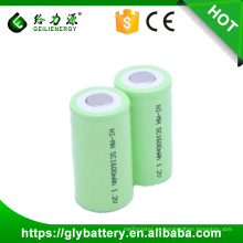 Alta capacidade de recarga nimh baterias 1600 mah nimh sc 1.2 v bateria para ferramenta de poder