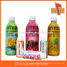 35um custom printed fruit juice label for bottle body packaging