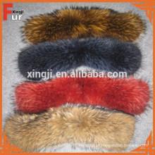 Colar de pele de guaxinim chinês por atacado para jaqueta