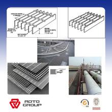 Feuerverzinkender Stahlgitter-Glasfasergehweg