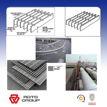 hot galvanizing steel grating fiberglass walkway