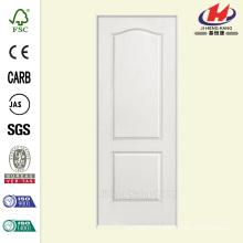 32 pulg. X 80 pulg. Con textura de 2 paneles Arco superior de núcleo hueco con imprimación Composite Single Prehung Puerta interior