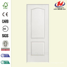 32 in. x 80 in. Textured 2-Panel Arch Top Hollow Core Primed Composite Single Prehung Interior Door