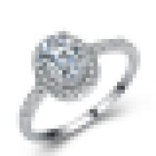 Женская Белый кубический цирконий любовь обещание CZ обручальное обручальное кольцо