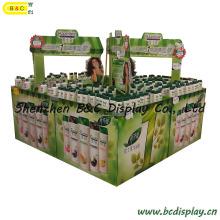 Pantalla de cartón de champú en el supermercado (B & C-C019)