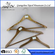 Anti-dérapant diverses couleurs pantalons cintre en bois anti-dérapant cintres en bois