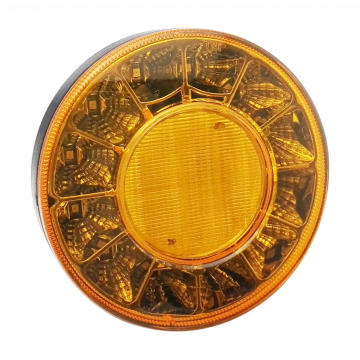 New Round Amber Bus Truck Tail Indicator Lights