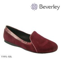 Nova moda plana mulheres sapatos tamanho grande