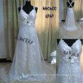 HH0600 2011 nueva manera A - alinee la colección nupcial modificada para requisitos particulares del vestido del cordón verdadero