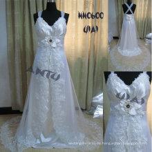 HH0600 2011 neue Art und Weise A-Linie kundengebundene reale Spitze-Brautkleid-Ansammlung