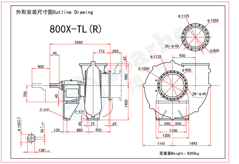 800mm Size FGD Pump