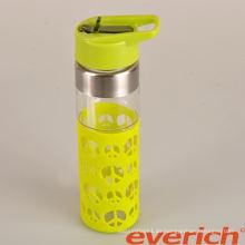 Hochwertiges, langlebiges Doppelwandglas Glas Wasserflasche