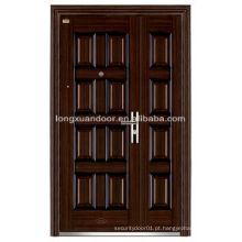 Fábrica Custom Waterproof Double Leaf Steel Security Storm Doors