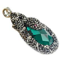 Fashion Stone Necklace Pendant, Gem Stone Beads Jewelry Pendant Necklace Wholesale