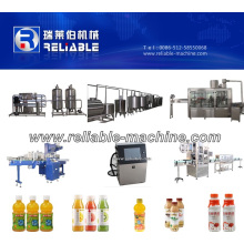 Automatic Gas Drinks Beverage Small Bottling Line Machine