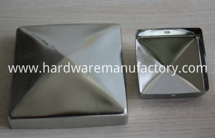 Stainless Steel Pyramid Fence Post Cap