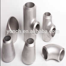acessórios de tubulação de titânio lavados ácido jateado areia redutor de titânio tee em encaixe de tubulação