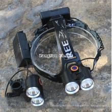 Double T6 Headlamp, Mountaineering Lamp, Miner′s Lamp