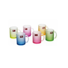 Frosted Glass Cup Color Glass Mug with Decal Kb-Jh06197