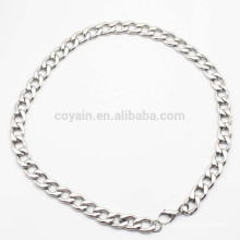 Venta al por mayor de fábrica de acero fino collar de cadena de acero inoxidable