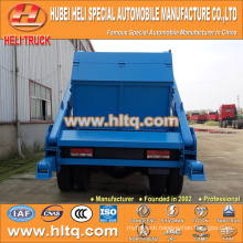 skip loader garbage truck arm swing sanitation vehicle trash truck 10cbm 190hp DONGFENG 4x2 new model garbage truck hot sale