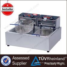 (Ce Approbation) Friteuse industrielle multifonctionnelle industrielle de haute qualité de 1-Tank 2-Basket