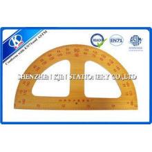 Long Wooden Teaching Ruler Set Protactor Setsquare Compasse