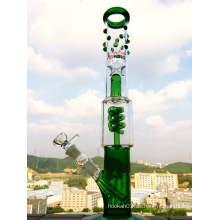 China Factory Grace Honey Cyclone 3 Pinch Ice Catcher Glas Rauchen Rohr mit Vorbau