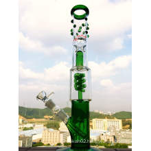China Factory Grace Honey Cyclone 3 Pinch Ice Catcher Glass Smoking Pipe with Stem