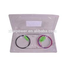 OM4 SC APC 1 * 2 1 2 1X2 FBT mini tubo de acero tipo divisor / acoplador de fibra óptica