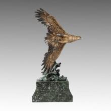 Estatua de los animales Flying Eagle Bronce Escultura Tpal-262