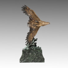 Animal Statue Flying Eagle Bronze Sculpture Tpal-262