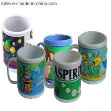 Brinquedos feitos sob encomenda do copo do PVC da forma plástica popular do copo