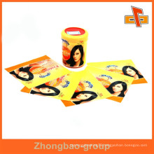 Customizable water proof shrinkable heat sensitive printable hair oil bottle label with your logo